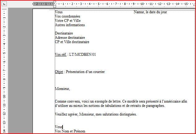 modele de lettre destinataire Word : le courrier modele de lettre destinataire